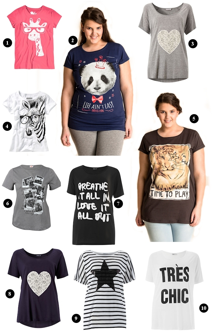 Große Größen Plus Size Fashion Blog trend guide  cool shirts t-shirts