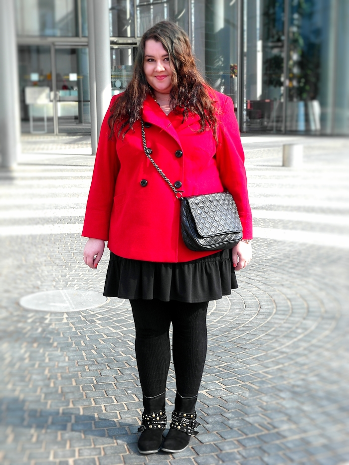 Red jacket in spring