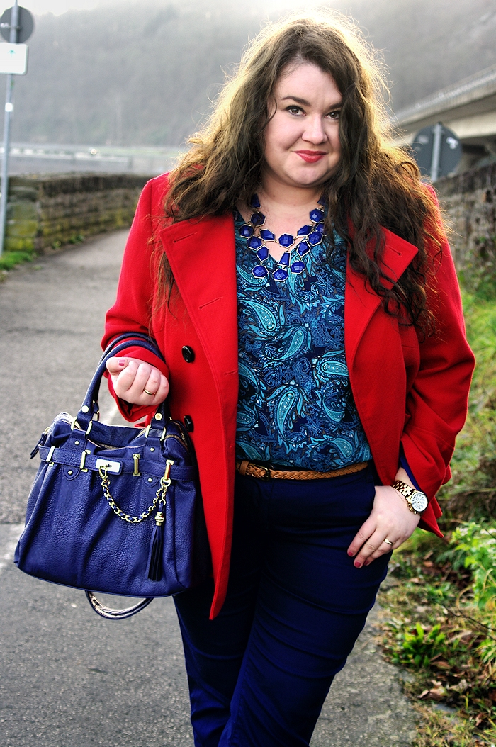 Große Größen Plus Size Fashion Blog steve madden bag red coat F&F tchibo tunic c&a