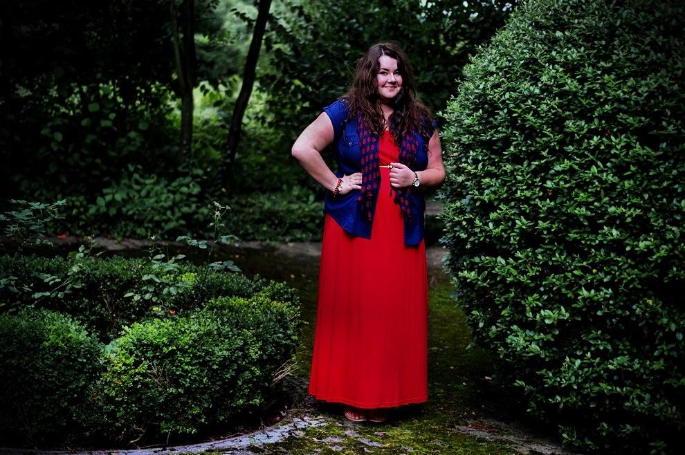 724: Red maxi dress vol. 2