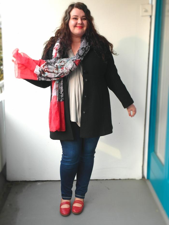 Große Größen Plus Size Fashion Blog striped red white