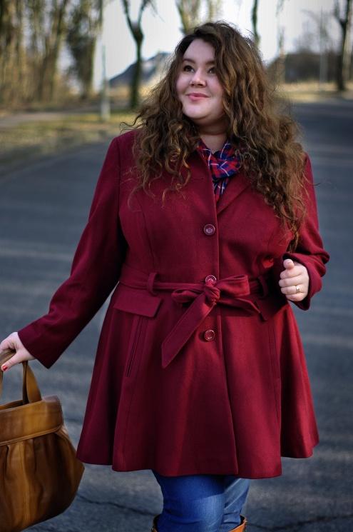 Große Größen Plus Size Fashion Blog asos curve jilsen amber burgundy coat