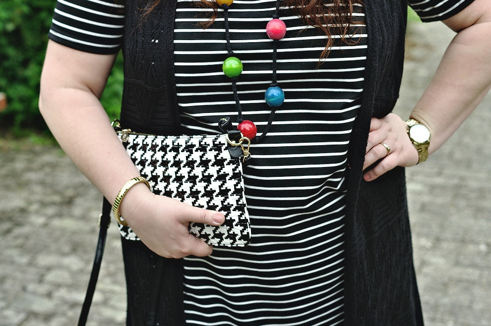 Plus size stripes and a hint of color