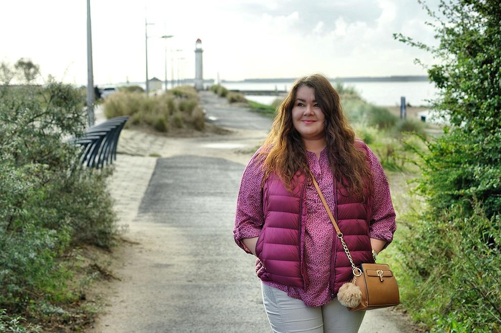 Große Größen Plus Size Fashion Blog Ernstings family red down vest