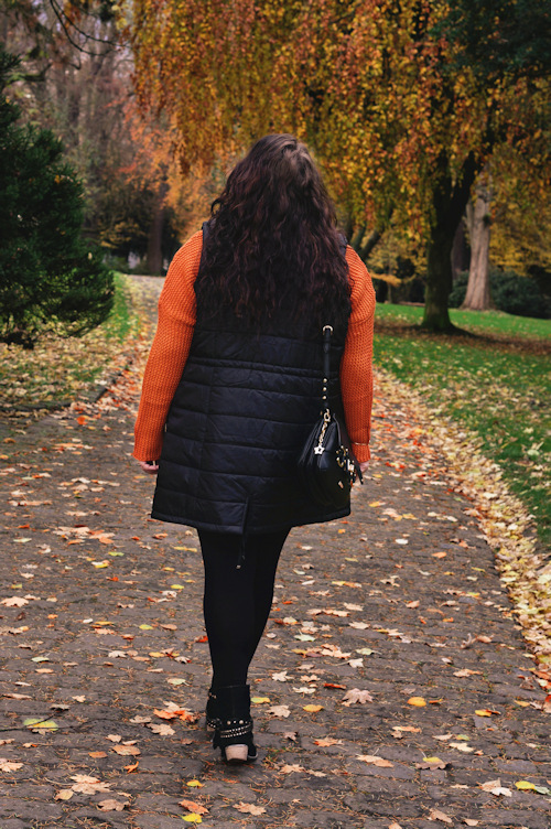 Große Größen Plus Size Fashion Blog sheego orange pullover