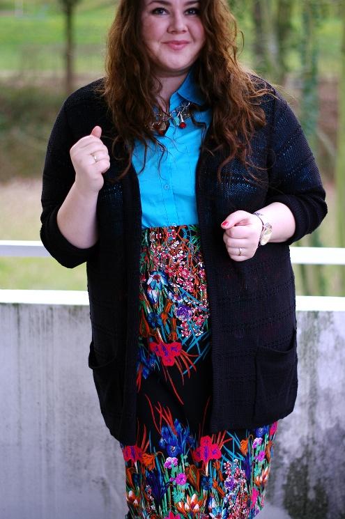 Große Größen Plus Size Fashion Blog kik textil asos curve floral skirt jilsen