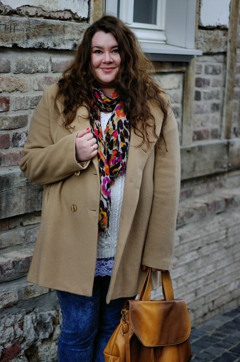 Große Größen Plus Size Fashion Blog jilsen long tall sally beige coat