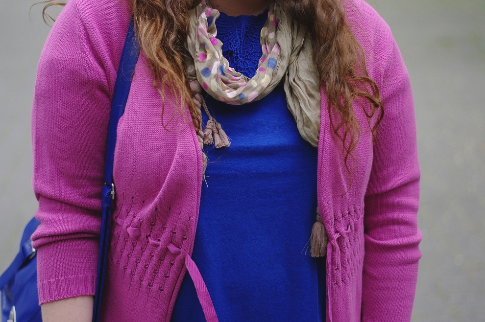 Navy with pink