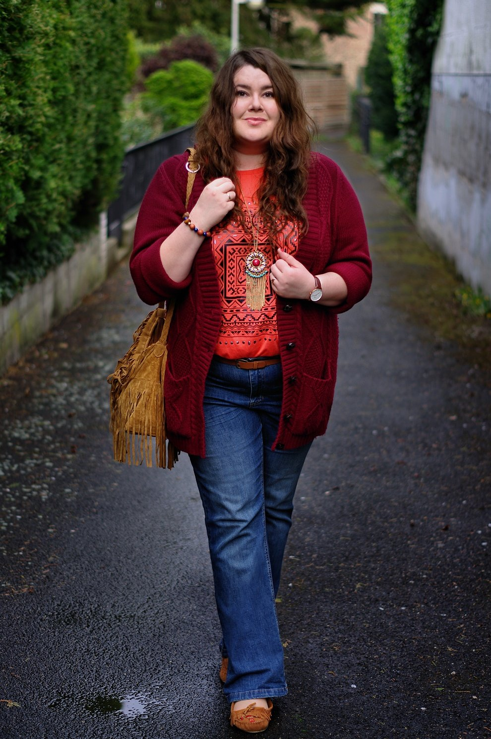 Große Größen Plus Size Fashion Blog hippie boho 70s daniel wellington