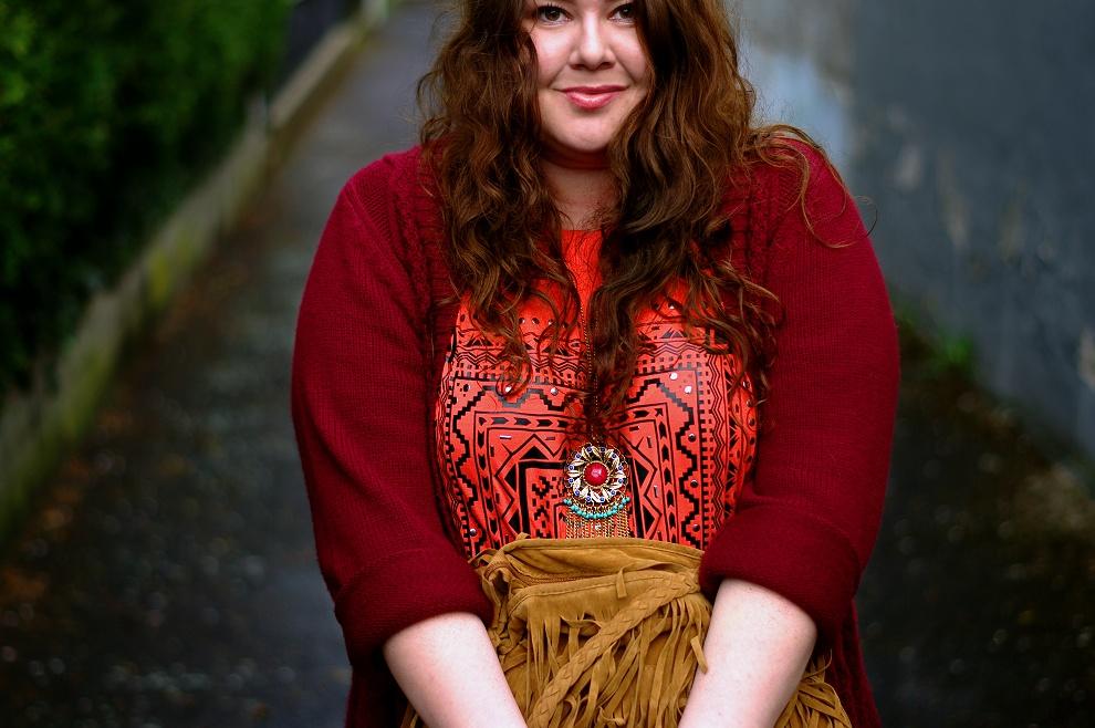 Große Größen Plus Size Fashion Blog hippie boho 70s