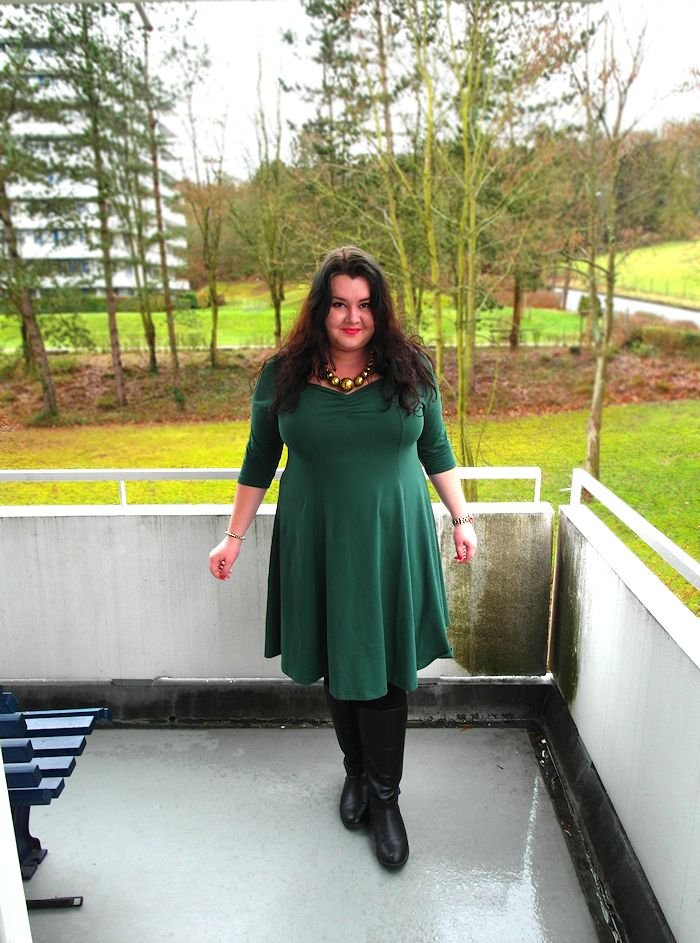 Green ASOS dress