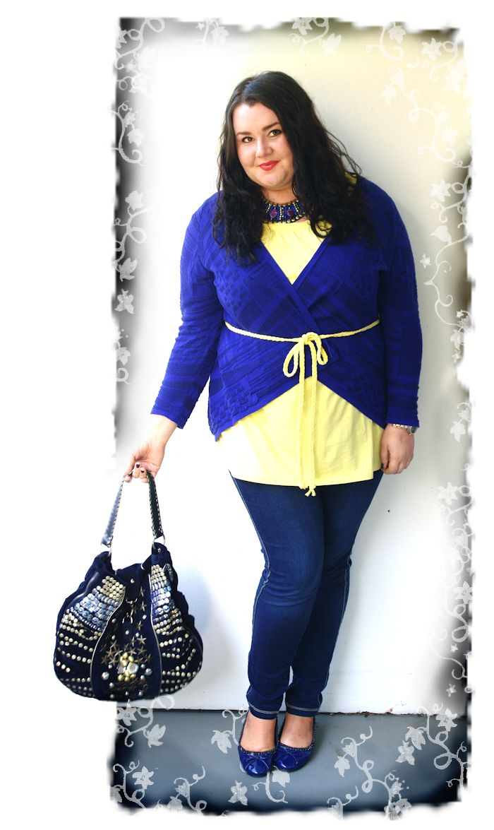 Navy, yellow and Luna Llea bag