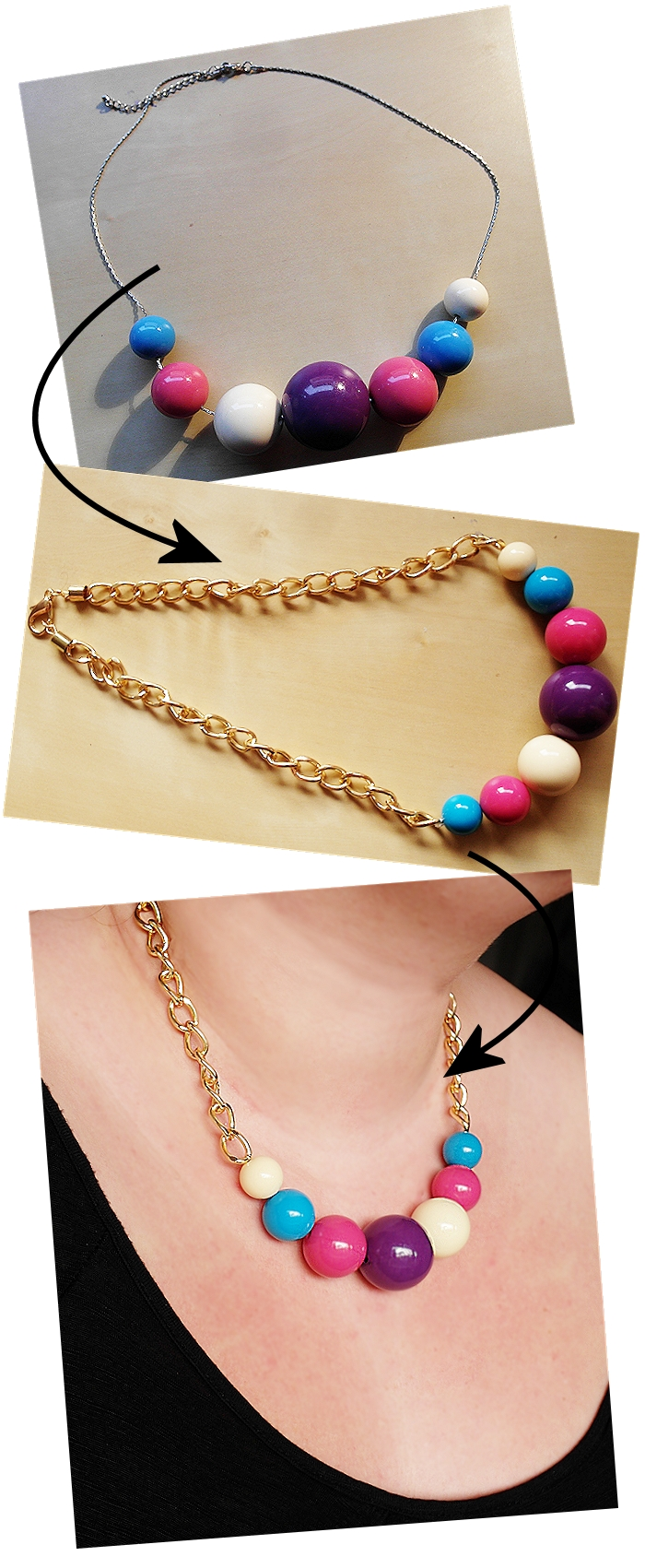 Große Größen Plus Size Fashion Blog DIY necklaces