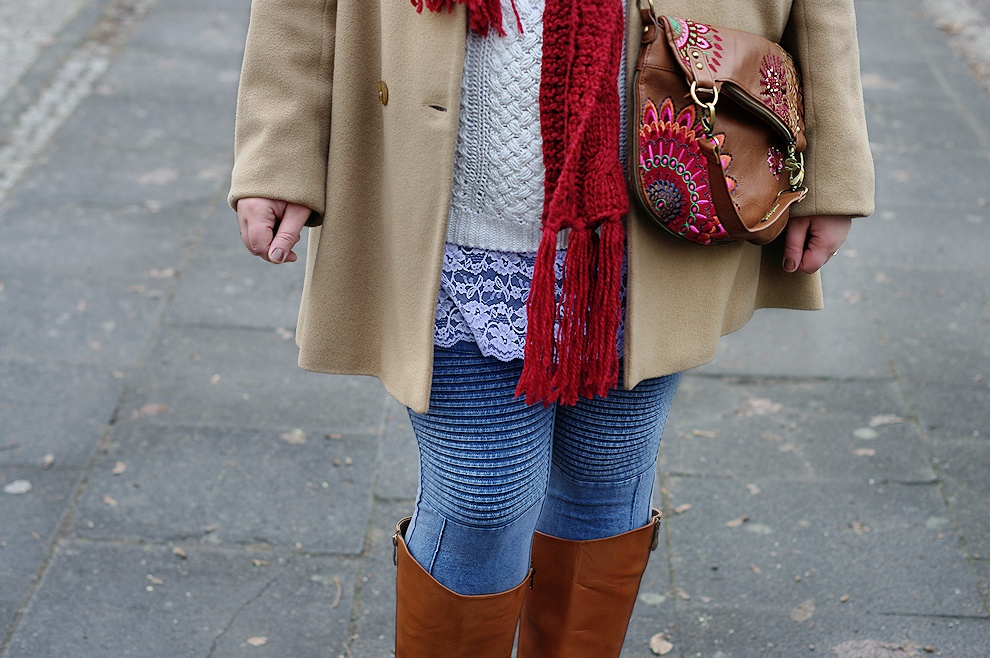 A simple plus size winter outfit