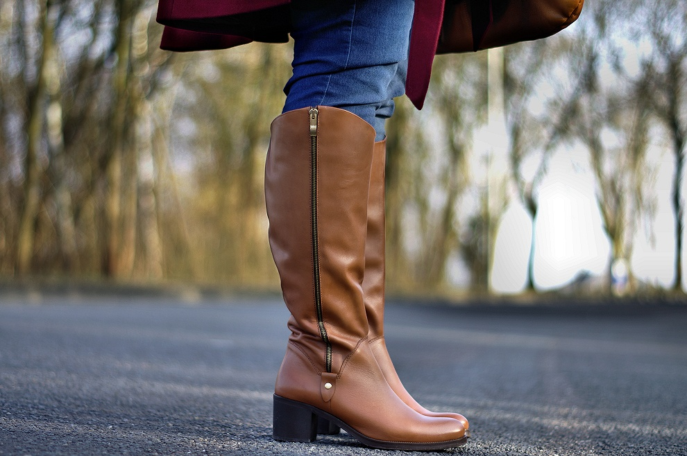 Jilsen wide fit cognac boots