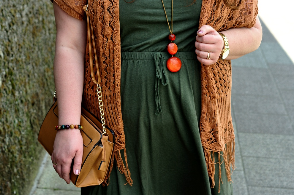 Khaki plus size summer dress